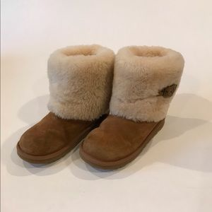 UGG Ellee Tan Sheepskin Cuff Boots 3